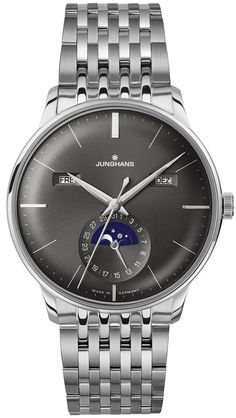 Junghans Watch Meister Calender Pre-Order #basel-15 #bezel-fixed #bracelet-strap-steel #brand-junghans #case-depth-12-2mm #case-material-steel #case-width-40-4mm #date-yes #day-yes #delivery-timescale-call-us #dial-colour-grey #gender-mens #luxury #moon-phase-yes #movement-automatic #new-product-yes #official-stockist-for-junghans-watches #packaging-junghans-watch-packaging #pre-order #pre-order-date-30-07-2015 #preorder-july #style-dress #subcat-meister #supplier-model-no-027-4505-45…