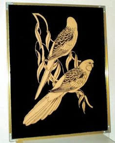 the silhouette filling glass painting shimmering silver - Google Search