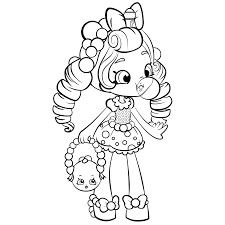 Shopkins Shoppies Gum Baloon Coloring Pages Printable And Book To Print For Free Find More Online Kids Adults Of