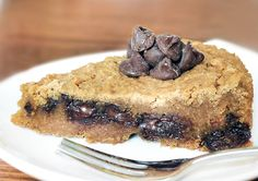 Secretly healthy deep dish cookie pie