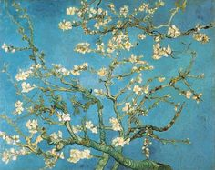 Vincent van Gogh. Oil on canvas. Blossoming Almond Tree. Saint-Remy, 1890. This is an all time favorite. It was painted for Vincent's brother, Theo's, son, also named Vincent. It was one of the few paintings treasured by the van Gogh family. Vincent died later in 1890.  Amsterdam: Van Gogh Museum.