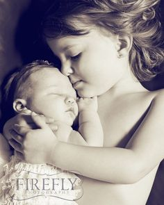 Big Sister Little Sister Photo Ideas {{ but clothed }}