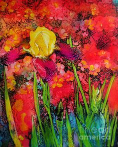 #Art #Spring art #Iris art #Colorful art #Floral art