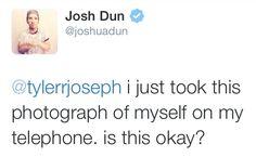 tyler joseph quotes | Twitter Top Selfie Twenty One Pilots Tyler Joseph Josh Dun…