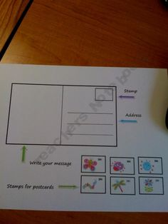 FREE! Postcard for Girls- Cute way to teach students how to write using a postcard!