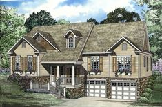 Vaulted and Open Great Room - 59514ND | 1st Floor Master Suite, CAD Available, PDF, Sloping Lot, Split Bedrooms, Split Level | Architectural Designs