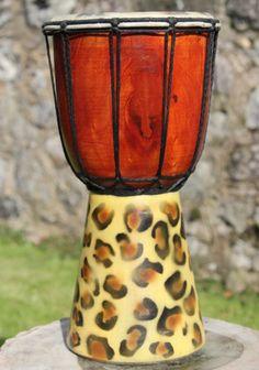 Christmas Gift Ideas: Fairtrade 30cm Animal Drum - Leopard