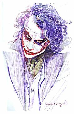 """ Joker (The Dark Knight) by Bill Sienkiewicz "" Joker Pics, Joker Art, Tiger Sketch, Stylish Little Boys, Joker Drawings, Dont Touch My Phone Wallpapers, Heath Ledger Joker, Psy Art, Joker Wallpapers"