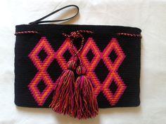 Wayuu Neon Clutch/ Boho Clutch