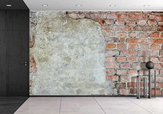- Old Brick Wall Background Texture - Canvas Art Wall Decor - Large Wall Murals, Removable Wall Murals, Textured Canvas Art, Textured Walls, Brick Wall Background, Textured Background, Old Brick Wall, Brick Texture, Artwork For Home