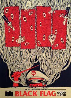 Black Flag - gig poster - Jason A Smith