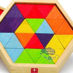 Mini Mosaico, Mini Mosaico Hape, Mini Mosaico de Bambu, Geo-Form S Mixed Shape Puzzles, Hape Toys, Brinquedos Hape