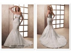 Maggie Sottero Ophelia WITHOUT the ribbon (or maybe different ribbon)