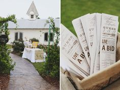 Letterpress wedding programs. Photo by W+E Photographie #alabamaweddings #thesonnethouse #southernweddings