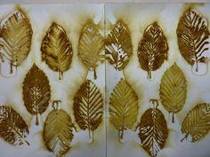 ECO PRINT: Alder leaf on watercolour paper