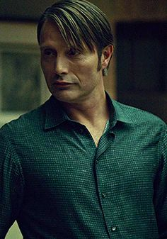 i WANT that green pincheck shirt Hannibal wore today