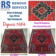 Nettoyage Tapis Sirjan Avant/Après à Carpentras, France - Vaucluse nettoyage tapis Avignon
