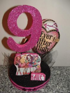 EVER AFTER High 3 Dimensional Party Centerpiece or use as a Cake Topper!  Request any colors! on Etsy, $14.95
