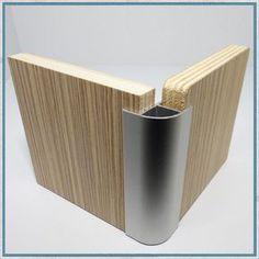 Camper Van, Motorhome Aluminium Furniture Corner Profile - 17mm Radius