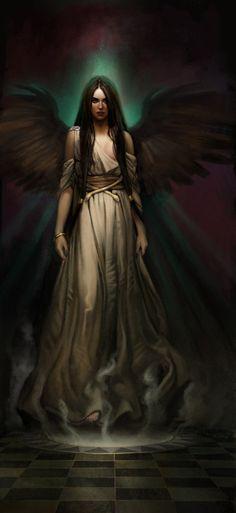 Persephonee, ist Tochter von Zeus und seiner eigenen Schwester Demeta. Sie ist auf diesen Bild sehr dunkel und böse dargestellt, zu unrecht wie ich finde, da sie nicht wirklich die Herrscherin der Unterwelt war. Sie wurde quasi eingeheiratet, indem der Gott der Unterwelt, Hades, sie zur Frau nahm.