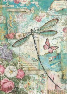 Rice Paper for Decoupage Scrapbook Craft Sheet Wonderland Blue Dragonfly | Crafts, Multi-Purpose Craft Supplies, Crafting Paper | eBay!