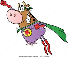 Super Hero Cow Fly