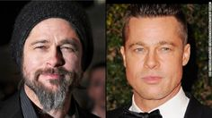 """Brad Pitt tries out a bohemian look, complete with beard, at the 2010 premiere of """"Kick-Ass"""" in London, but goes for a more military style f..."""
