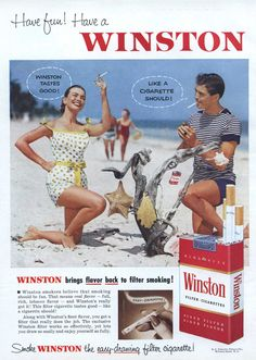 https://flic.kr/p/7XimCC | Ad for Winston Cigarettes