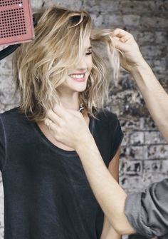 #hair and #makeup #behindthescenes of Rosie Huntington-Whiteley's Paige Denim campaign