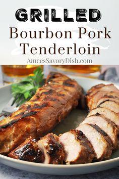 Pellet Grill Recipes, Grilling Recipes, Pork Recipes, Real Food Recipes, Cooking Recipes, Bourbon Recipes, Traeger Recipes, Grilling Ideas, Kitchens