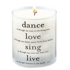 Quotable candles