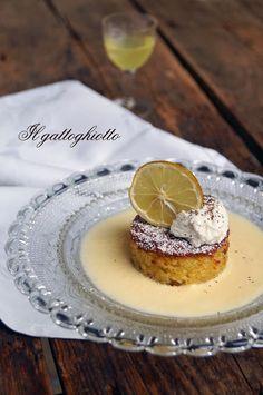 Caprese al cioccolato bianco su crema inglese al limoncello e mousse di ricotta al pepe di Sichuan (gluten free) - IlGattoGhiotto.it