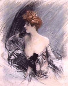 Giovanni Boldini - Portrait of Sarah Bernhardt