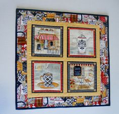 French Bistro Quilted Table Runner Wall by ForgetMeNotQuilteds