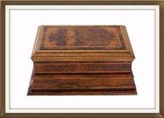 Art Deco Oak & Walnut Jewellery Box With Plinth. £200. http://www.theoldjewelleryboxshop.co.uk/prod2.cfm?product=91320