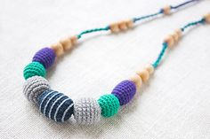 Teething / Nursing necklace for breastfeeding by NecklacesForMommy, $21.00