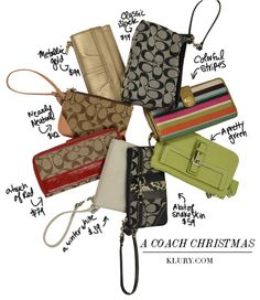 Coach Wristlets and Wallets