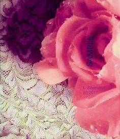 A lace and floral photography artwork of mine.