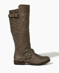 Quilt Trip Buckle Boots | Shoes | charming charlie