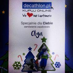 Dzięki Olgo z @decathlonpolska. #ecommerce #shopping #personalization #decathlon
