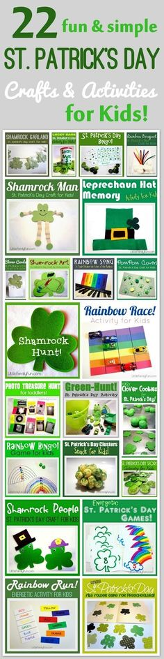 St. Patrick's Day Arts and Crafts for kids, St patty's day family fun, st patrick's day crafts for kids