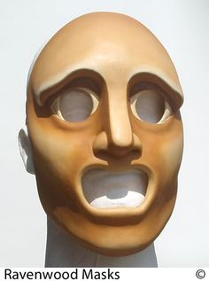Greek tragedy mask by Alyssa-Ravenwood on DeviantArt Puppet Toys, Puppets, Ancient Greek Theatre, Black Cat Cosplay, Tragedy Mask, Teaching Theatre, Greek Tragedy, Fox Ears, Leather Mask