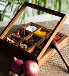 Exclusive Lane Wood Spice Box by ExclusiveLane Online - Other Tools - Kitchen & Dining - Pepperfry Product