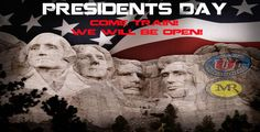 We are open on President's Day – Come Train!