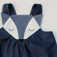 new fox denim pinny - too cute and it has straps that cross at the back