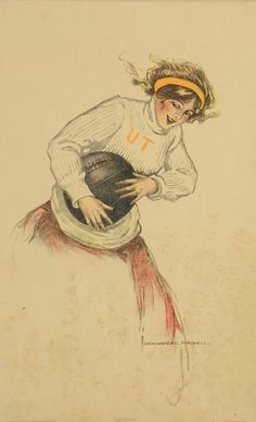 UT basketball poster circa 1910, Sadie Mitchell: Lot 616. This lot was sold for $125 at our May 18, 2013 auction.
