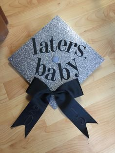 My very own High School graduation cap! Inspired by fifty shades of Grey. Congrats class 2015!