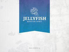 ( jellyfish ) designed by Marius Fechete. Connect with them on Dribbble; Logo Concept, Jellyfish, Logo Design, Branding, Marketing, Logos, Inspiration, Logo, Water