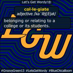 collegiate 12/17/2020 GFX Definition of the Day col·le·giate adjective /kəˈlēj(ē)ət/ belonging or relating to a #college or its #students . #dailyGFXdef #letsgetwordy #collegiate Beaufort Scale, American Carnage, Aussie Australia, Christian Christmas, Batman Vs Superman, Albedo, Aktiv, Definitions, The Voice