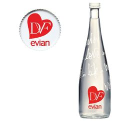 Evian's color scheme is pink/red/white...doesn't seem to appeal as well as blue/white scheme in terms of purity/cleanliness...
